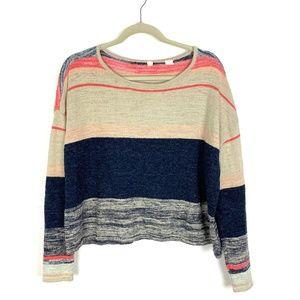 ANTHROPOLOGIE Samedi Pullover Striped Sweater Moth